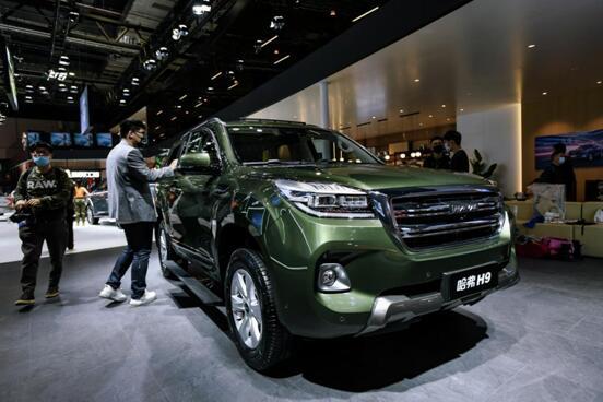 可劲造,9来到,哈弗H9亮相上海国际车展