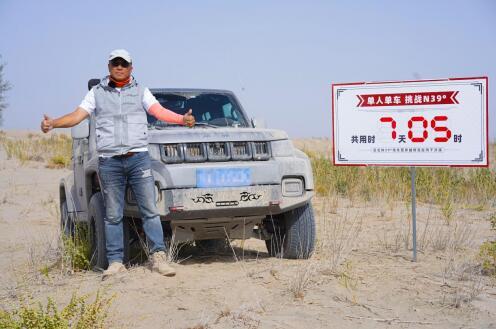 塔漠穿越新传奇 董长凯和BJ40 单人单车7天完成N39穿越